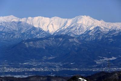 地蔵山頂から谷川岳